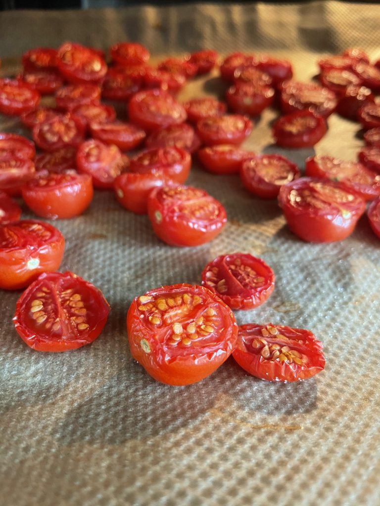 Getrocknete Tomaten für unsere Kartoffelsuppe