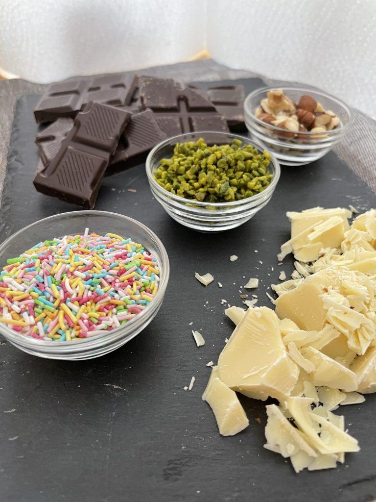 Zutaten für das selbstgemachte Schokoladenei