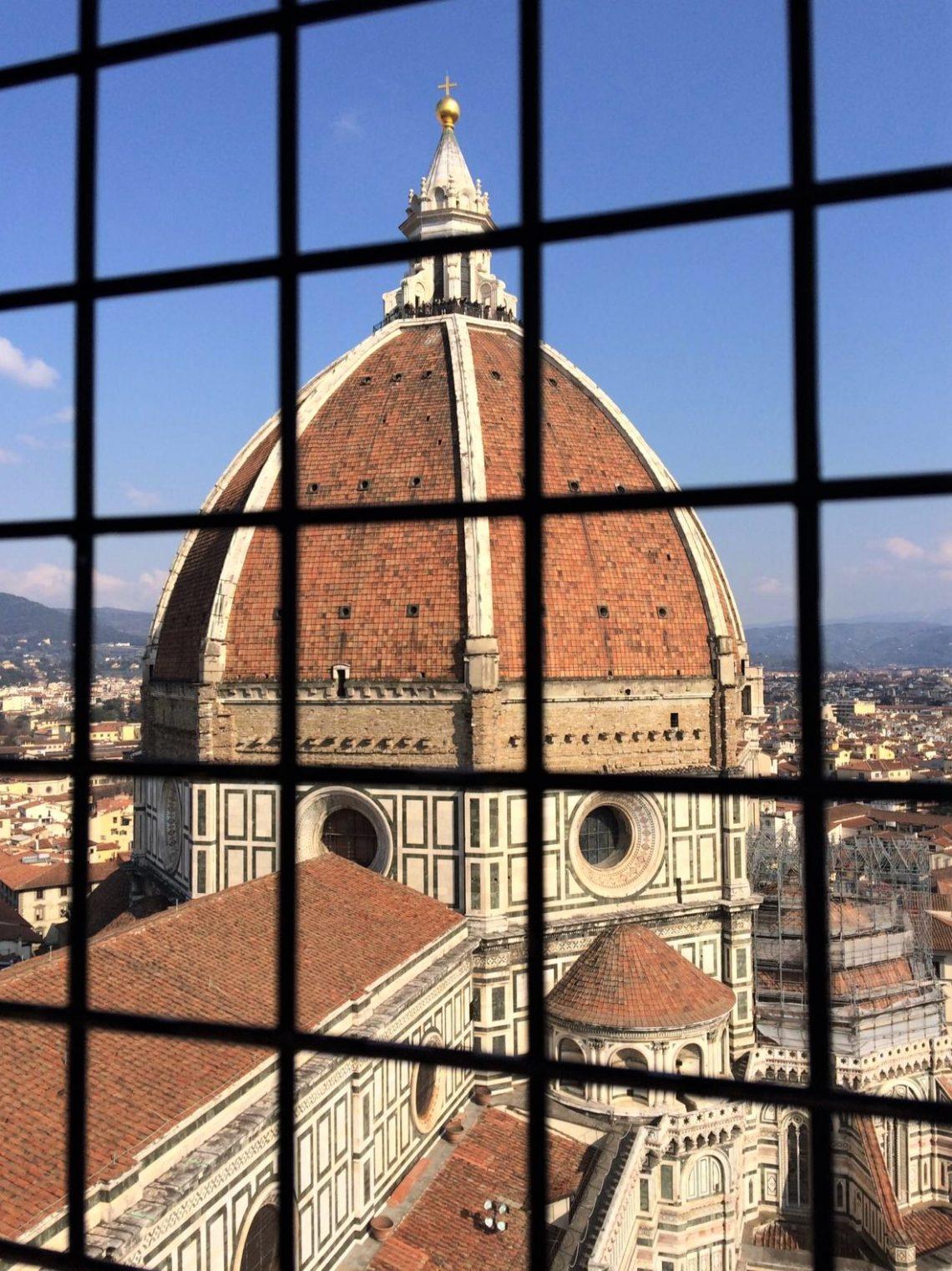 Blick vom Campanile auf die Dächer von Florenz