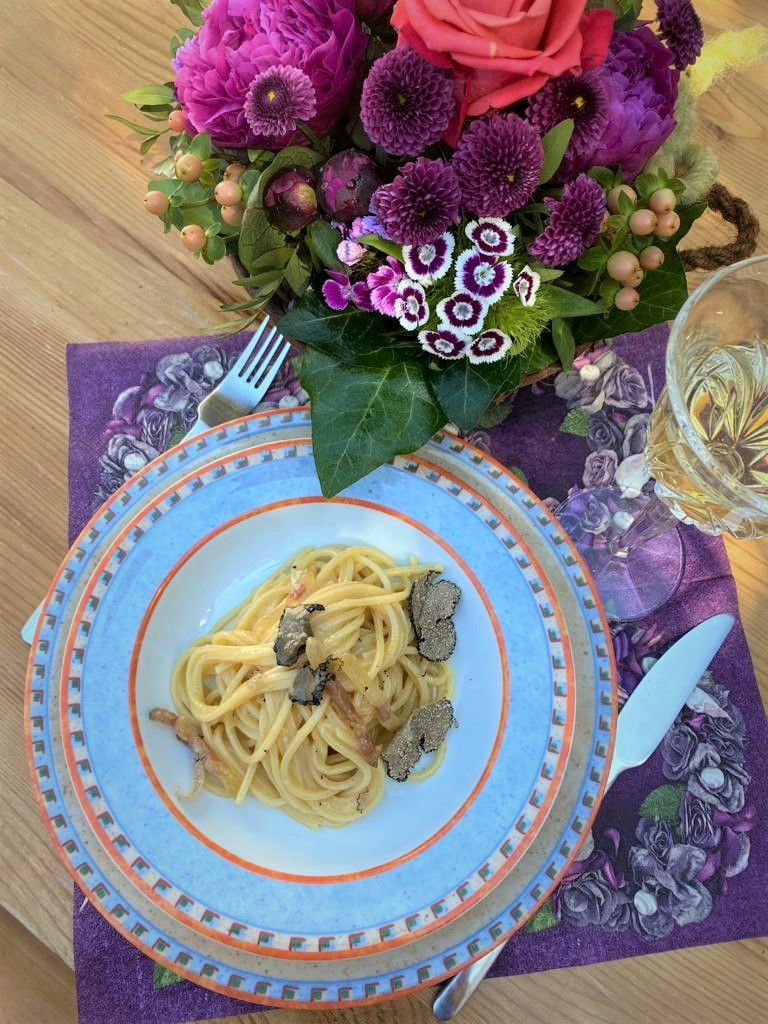 Pasta alla Carbonara mit Trüffel